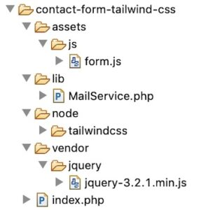 Tailwind Example File Structure