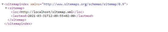 Generated Sitemap Index Xml