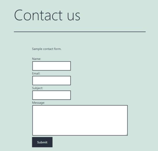 Formulir Kontak WordPress