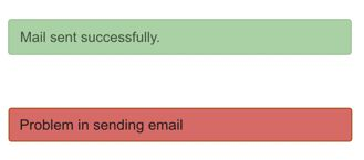 Contact Form Response on Submit