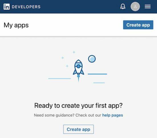 Create Linkedin App
