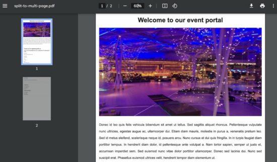 Multi Page PDF Auto Split