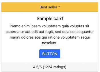 Bootstrap Card Header Footer