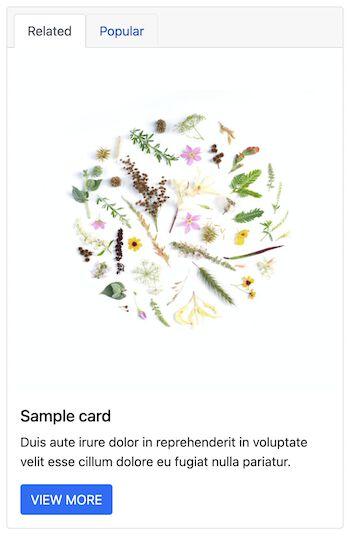 Bootstrap Card Navigation