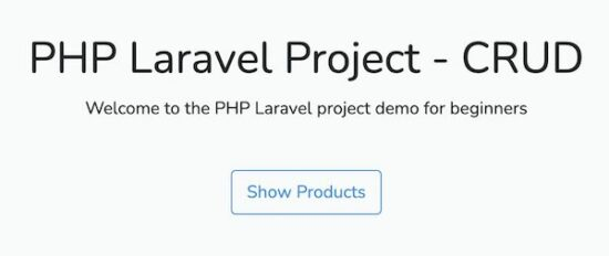 Laravel Project Welcome Screen