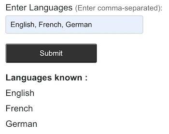 languages known