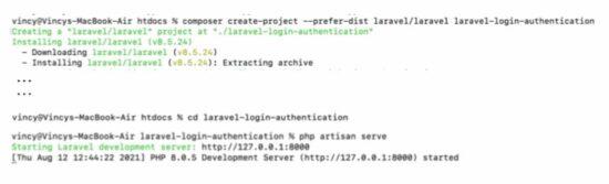 Laravel Login Project Initial Setup